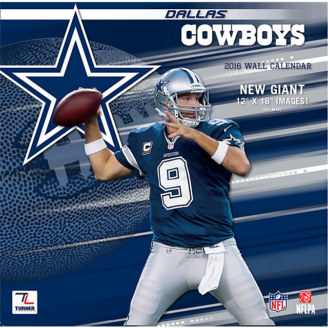 Dallas Cowboys 2016 12x12 Team Wall Calendar