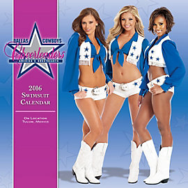 Dallas Cowboys Cheerleaders 2016 15x15 Swimsuit Wall Calendar