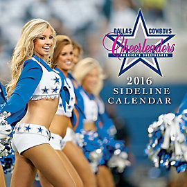 Dallas Cowboys Cheerleaders 2016 12x12 Sideline Wall Calendar