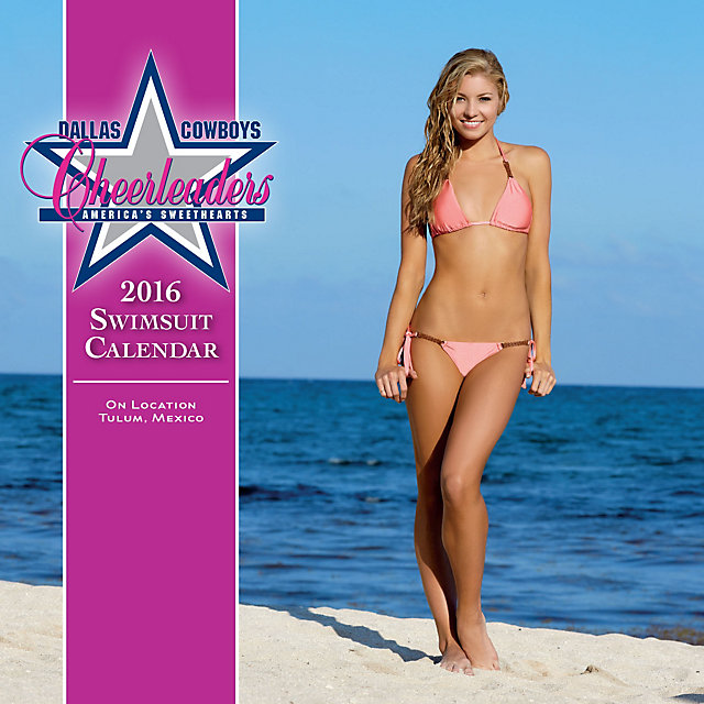 Dallas Cowboys Cheerleaders 2016 7x7 Swimsuit Mini Calendar