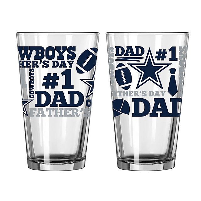 Dallas Cowboys Father's Day Pint Glass
