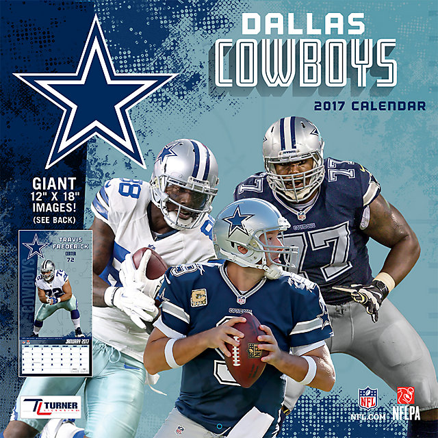 2017 12x12 Dallas Cowboys Team Wall Calendar