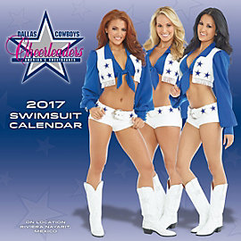 2017 15x15 Dallas Cowboys Cheerleaders Swimsuit Wall Calendar