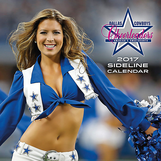 2017 12x12 Dallas Cowboys Cheerleaders Sideline Wall Calendar