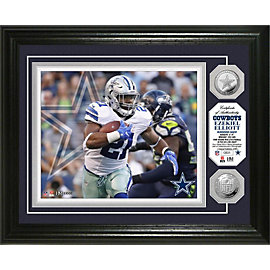 Dallas Cowboys 13 x 16 Ezekiel Elliott Coin Photo Mint