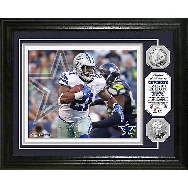 Dallas Cowboys 13 x 16 Ezekiel Elliott Coin Photo Mint