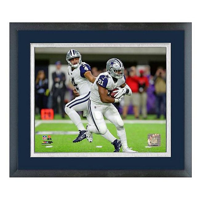 Dallas Cowboys 11x14 Dak Prescott & Ezekiel Elliott Sport Frame
