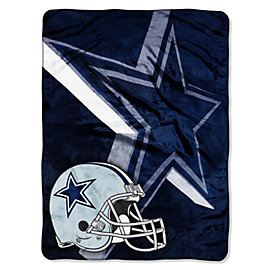 Dallas Cowboys Bevel Logo Micro Raschel Throw Blanket