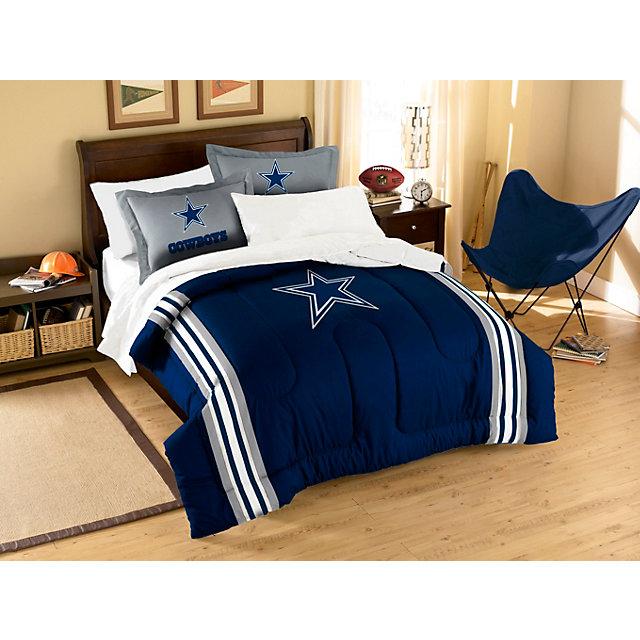 Dallas cowboys applique comforter bedding set twin for Dallas cowboy bedroom ideas