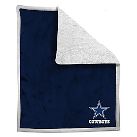 Dallas Cowboys Mink Applique Sherpa Throw Blanket