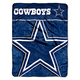 Dallas Cowboys Living Large Micro Raschel Throw Blanket