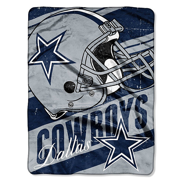 Dallas Cowboys Deep Slant Micro Raschel Throw Blanket