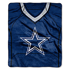 Dallas Cowboys Jersey Raschel Throw Blanket