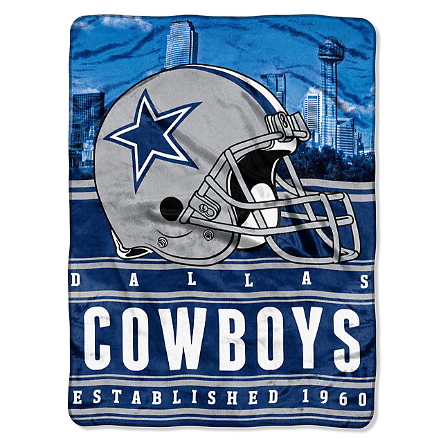 Dallas Cowboys Stacked Silk Touch Throw Blanket Home