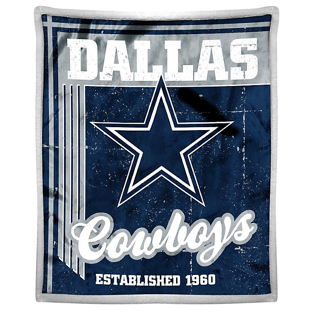 Dallas Cowboys Old School Mink Throw