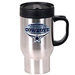 Dallas Cowboys Travel Mug with Football Logo
