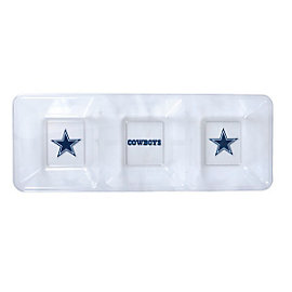 Dallas Cowboys Clear Divided Snack Tray