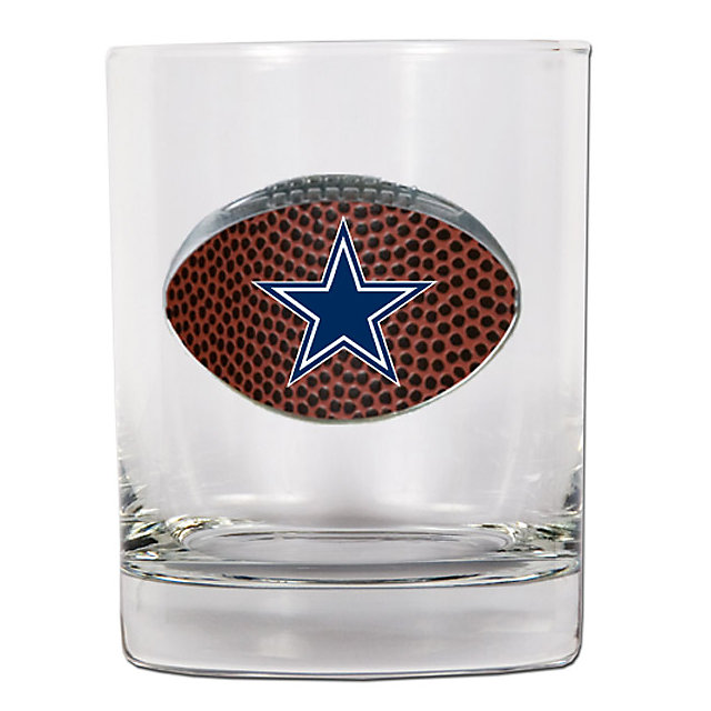 Dallas Cowboys Gameball 14 oz. Rocks Glass