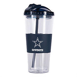 Dallas Cowboys No Spill Tumbler with Straw 22 oz.