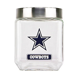 Dallas Cowboys Medium Glass Canister