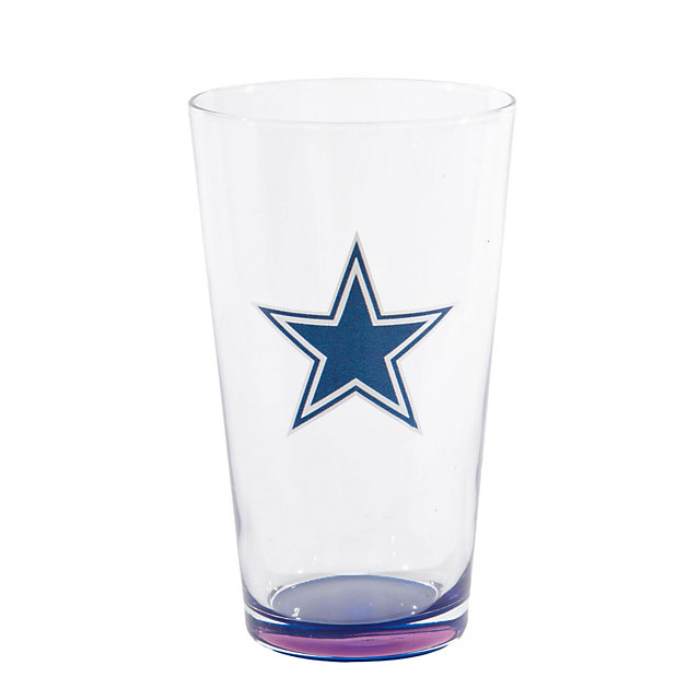 Dallas Cowboys 17 oz. Logo Pint Glass with Blue Bottom