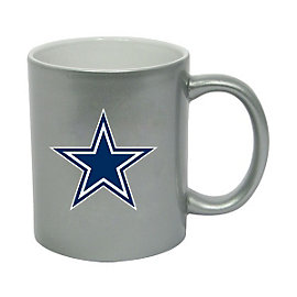 Dallas Cowboys Silver Metallic Coffee Mug 11 oz.