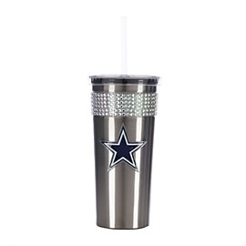 Dallas Cowboys Bling Tumbler With Straw