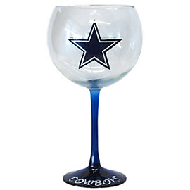 Dallas Cowboys Handcrafted Wine Glass 20 oz.