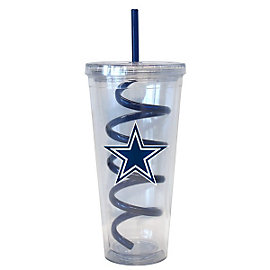 Dallas Cowboys Swirl Straw Tumbler 22 oz.