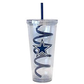 Dallas Cowboys Swirl Straw Tumbler 22 oz.