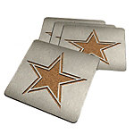 Dallas Cowboys Stainless Steel Coasters 4-Pack