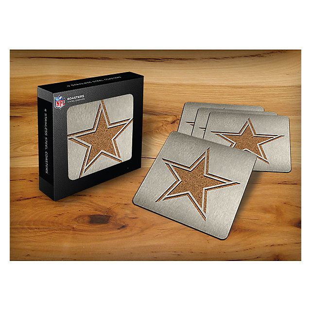 Dallas Cowboys Stainless Steel Coasters 4 Pack Home