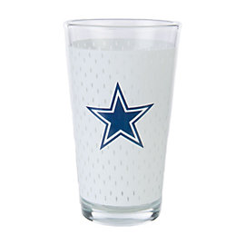 Dallas Cowboys Jersey Pint Glass