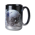 Dallas Cowboys Jumbo Black and Chrome Mug 15 oz.