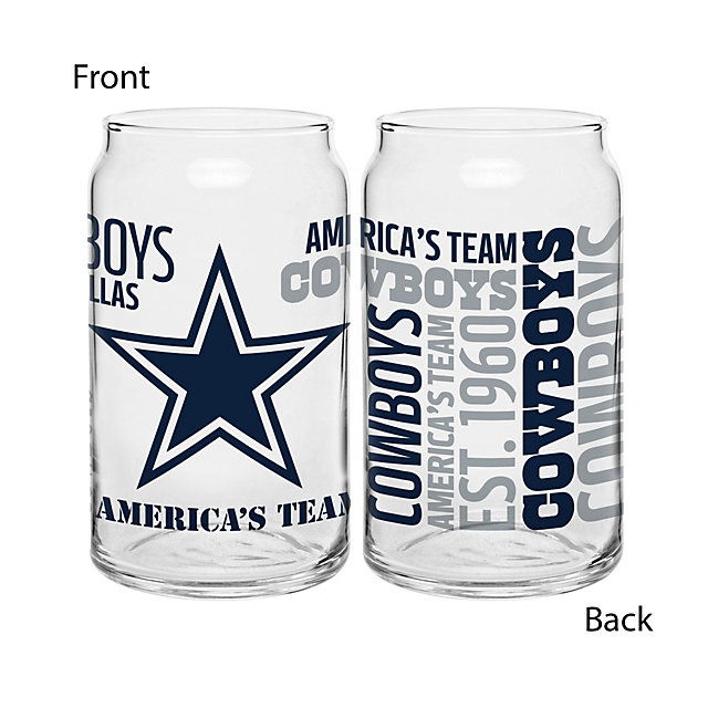 Dallas Cowboys Spirit Glass Can