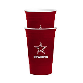 Dallas Cowboys 2 Pack Red Party Cups