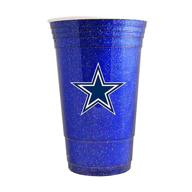 Dallas Cowboys Blue Sparkle Cup