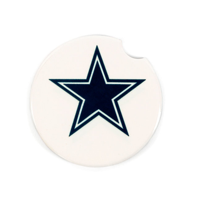 Dallas Cowboys Ceramic White Star Coaster