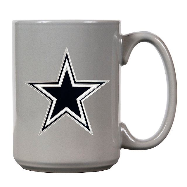 Dallas Cowboys 15 Ounce Grey Coffee Mug