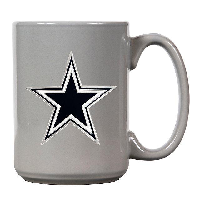 Dallas Cowboys 15 Ounce Grey Coffee Mug