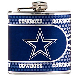 Dallas Cowboys Metallic Wrap Flask