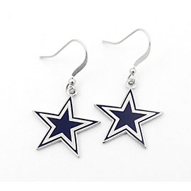 Dallas Cowboys Star Dangler Earrings