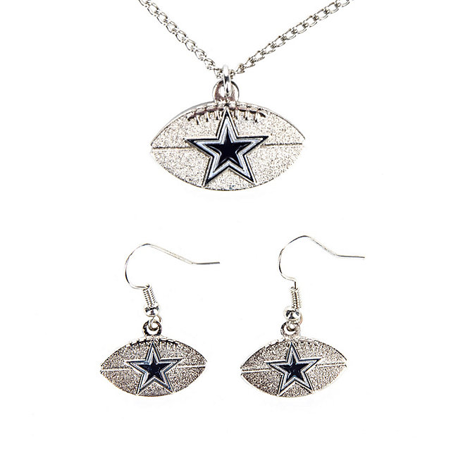Dallas Cowboys Football Earring and Necklace Set