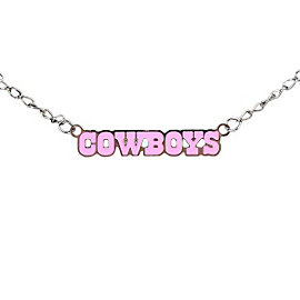 Dallas Cowboys Block Letter Pink Necklace