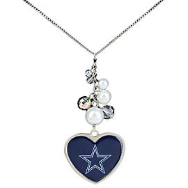 Dallas Cowboys Reversible Heart & Beads Necklace