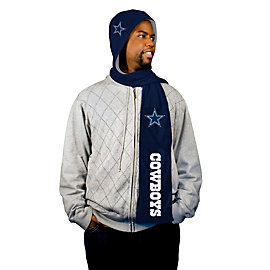 Dallas Cowboys Reversible Hoodie Fleece Scarf