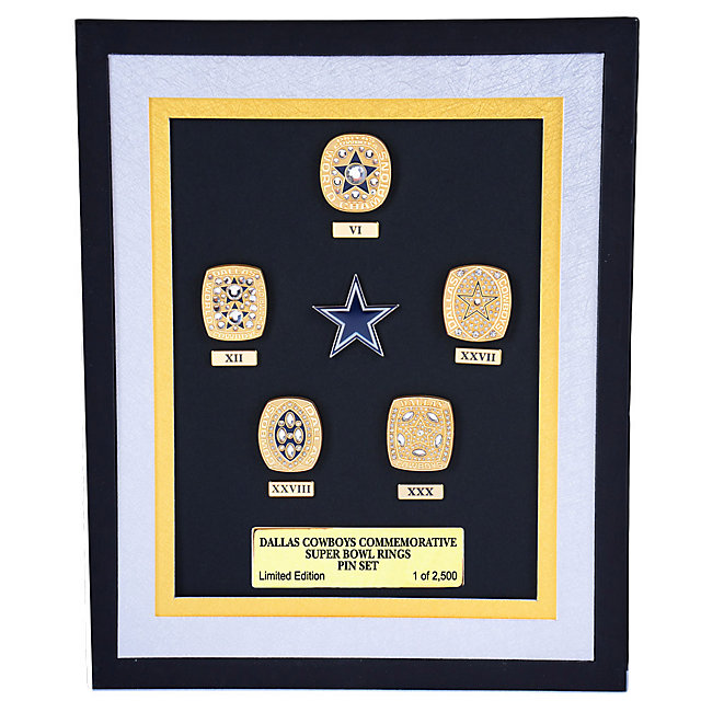 Dallas Cowboys 5 Championship Ring Pin Set