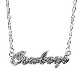 Dallas Cowboys Sterling Silver Script Necklace