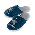 Dallas Cowboys Womens Glitter Sherpa Slippers