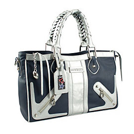 Dallas Cowboys Suite Team Moto Satchel Purse